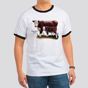 Hereford Cow and Calf Ringer T