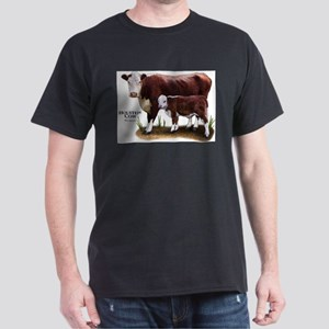 Hereford Cow and Calf Dark T-Shirt