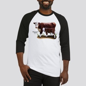 Hereford Cow and Calf Baseball Jersey