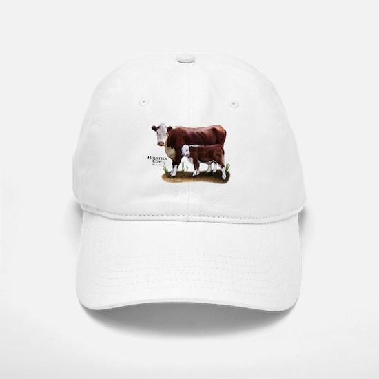 Hereford Cow and Calf Baseball Baseball Cap