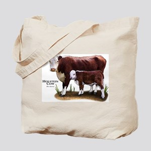 Hereford Cow and Calf Tote Bag