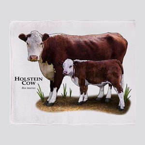 Hereford Cow and Calf Throw Blanket