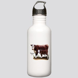 Hereford Cow and Calf Stainless Water Bottle 1.0L