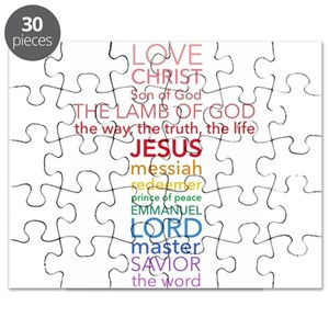 Names Of Jesus Cross Puzzle