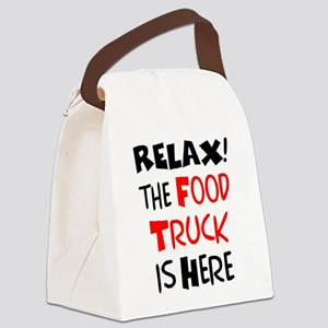 relax! food truck here Canvas Lunch Bag