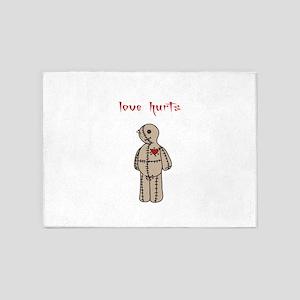 Love Hurts 5'x7'Area Rug