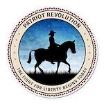 Patriot Revolution Round Car Magnet