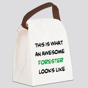 awesome forester Canvas Lunch Bag