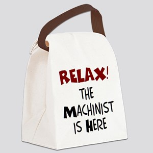 machinist here Canvas Lunch Bag
