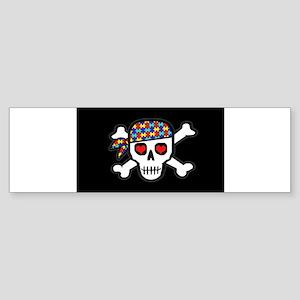 AUTskull-blkbg Bumper Sticker