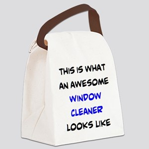 awesome window cleaner Canvas Lunch Bag