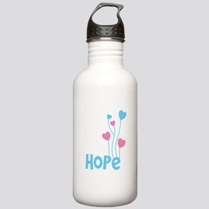 Hope with balloons Sports Water Bottle
