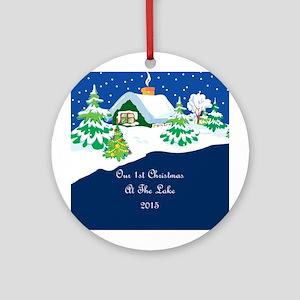 2015 1St Lake Christmas Ornament (Round)