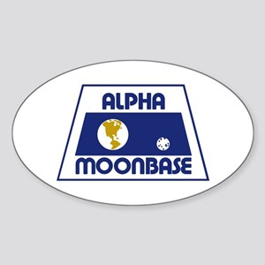 Moonbase Alpha Sticker (Oval)