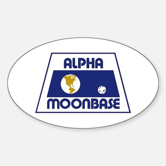 Moonbase Alpha Sticker (Oval)