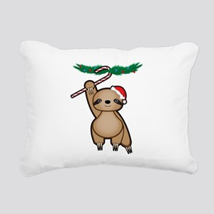 Holiday Sloth Rectangular Canvas Pillow