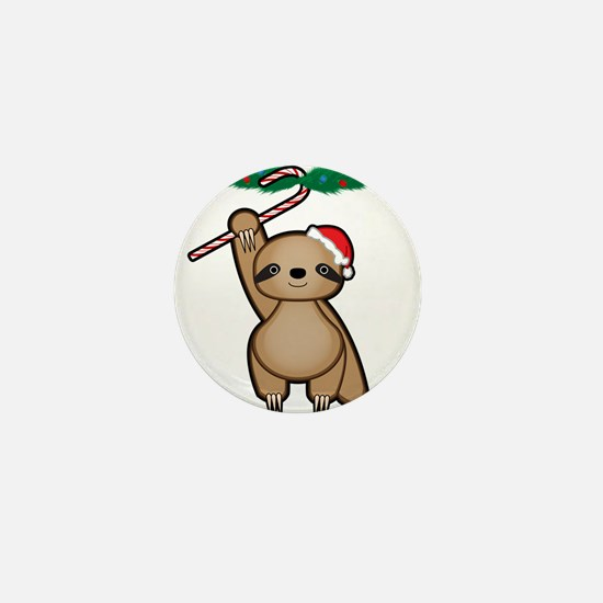 Holiday Sloth Mini Button
