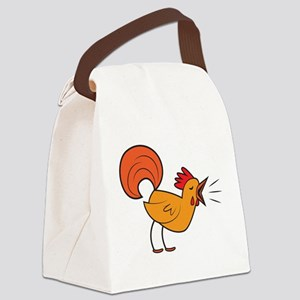 Crowing ROOSTER cock-a-doodle-doo! Canvas Lunch Ba