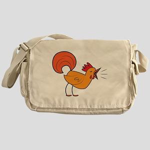 Crowing ROOSTER cock-a-doodle-doo! Messenger Bag
