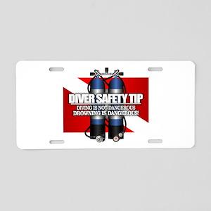 Diver Safety Tip Aluminum License Plate