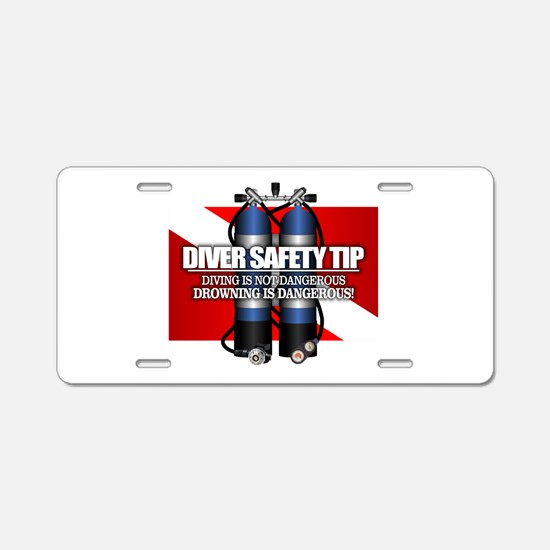 Diver Safety Tip Aluminum License Plate