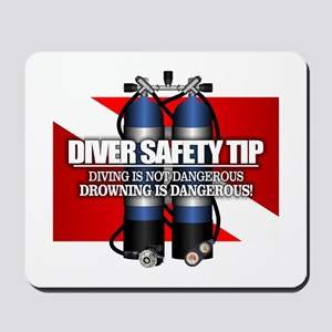 Diver Safety Tip Mousepad