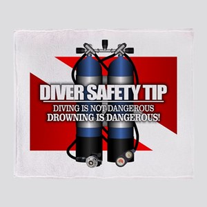 Diver Safety Tip Throw Blanket