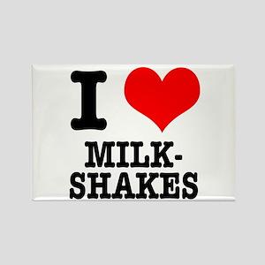 I Heart (Love) Milkshakes Rectangle Magnet