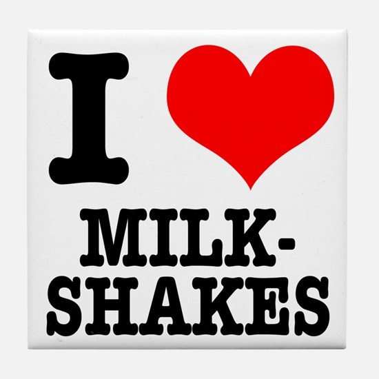 I Heart (Love) Milkshakes Tile Coaster