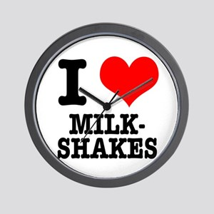 I Heart (Love) Milkshakes Wall Clock
