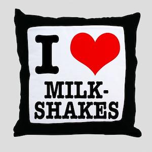 I Heart (Love) Milkshakes Throw Pillow