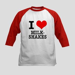 I Heart (Love) Milkshakes Kids Baseball Jersey