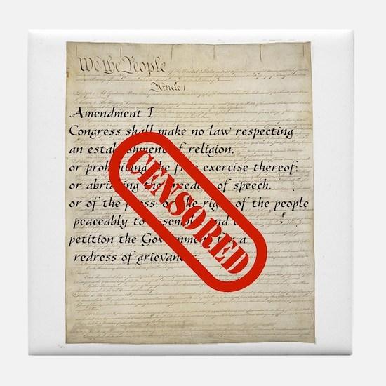 Constitution CENSORED Tile Coaster