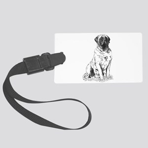 Mastiff Sitting Luggage Tag