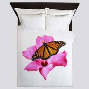 Hibiscus And Butterfly Queen Duvet