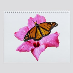 Hibiscus And Butterfly Wall Calendar