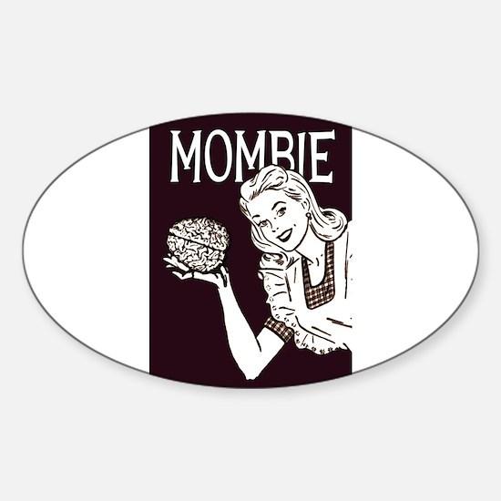 Mombie Retro Zombie 3x5 Low Decal