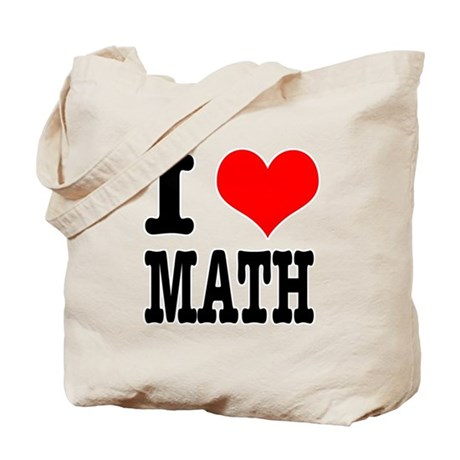 I Heart (Love) Math Tote Bag