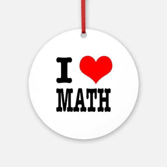 I Heart (Love) Math Ornament (Round)