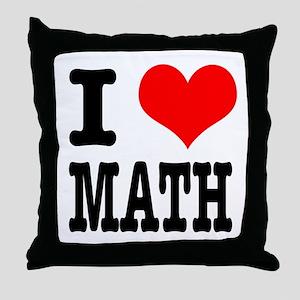 I Heart (Love) Math Throw Pillow