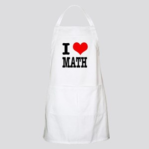 I Heart (Love) Math BBQ Apron