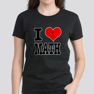 I Heart (Love) Math Women's Dark T-Shirt