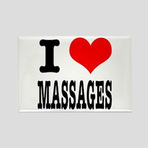 I Heart (Love) Massages Rectangle Magnet