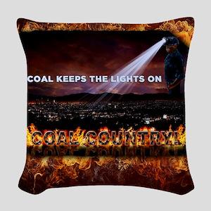 Coal Country Woven Throw Pillow