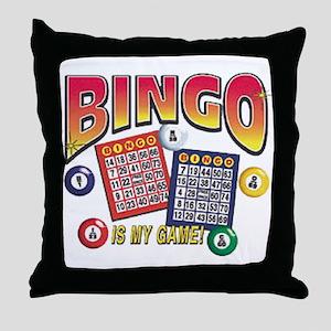 Bingo Is My Game Throw Pillow