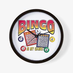 Bingo Is My Game Wall Clock