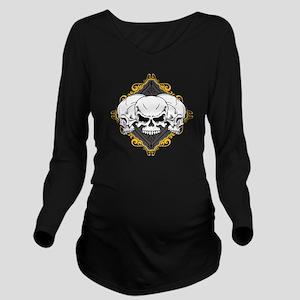 skull-scrollframe-lgclock Long Sleeve Maternit