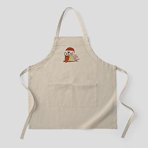 Owl Be Home For Christmas Apron
