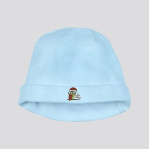 Owl Be Home For Christmas baby hat