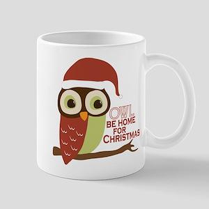 Owl Be Home For Christmas Mug